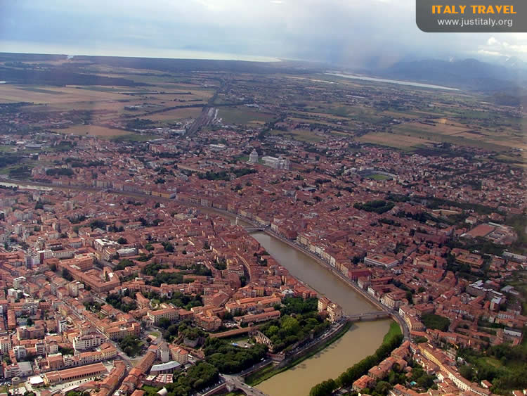 Aerial view of Pisa